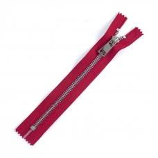 Молния металл №5ТТ никель н/р 18см D171 красный