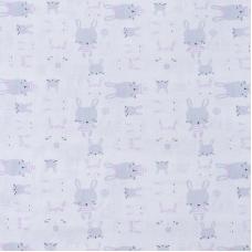 Ткань на отрез бязь 120 гр/м2 детская 150 см 9274 Зайки