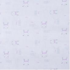Ткань на отрез бязь 120 гр/м2 детская 150 см 9275 Зайки компаньон