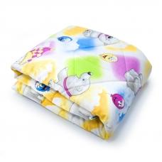 Одеяло Овечья шерсть 300гр Всесезонное 110х140 см хлопок