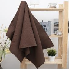 Полотенце вафельное банное Премиум 150/75 см цвет 896 темно-коричневый