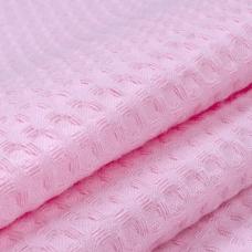 Ткань на отрез вафельное полотно гладкокрашенное 150 см 240 гр/м2 7х7 мм цвет 071 розовый
