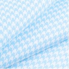Ткань на отрез бязь плательная 150 см 1747/6 цвет голубой