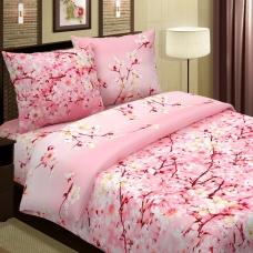 Ткань на отрез поплин 220 см 574-1 Сакура цвет розовый