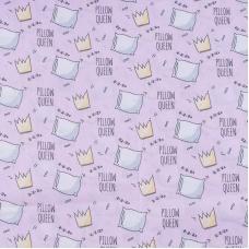 Ткань на отрез поплин 150 см 1982/3 Королевские подушки цвет розовый