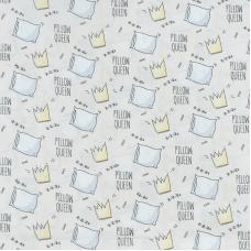 Ткань на отрез поплин 150 см 1982/2 Королевские подушки цвет бежевый