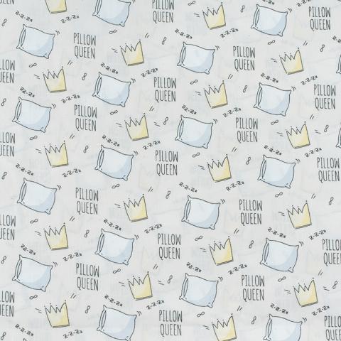 Ткань на отрез поплин 150 см 2805/2 Королевские подушки цвет бежевый