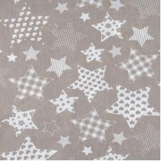 Ткань на отрез бязь плательная 150 см 1683/18 цвет кофе