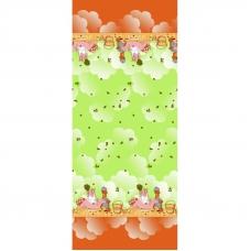 Полотенце вафельное банное 150/75 см 60/3 Баня цвет салатовый