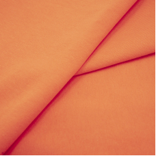Ткань на отрез футер петля с лайкрой цвет Оранжевый