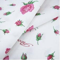 Ткань на отрез бязь ГОСТ Шуя б/з 150 см 6719/1 Розы