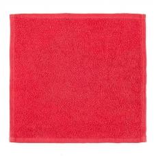 Салфетка махровая цвет красный 30/30 см