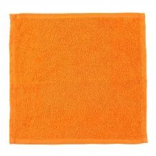 Салфетка махровая цвет апельсиновый 30/30 см