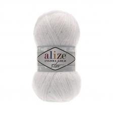 Пряжа ALIZE ANGORA GOLD STAR 55-белый (5% паетки 17% шерсть 11% полиэстер 67% акрил)