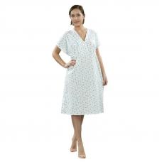 Сорочка женская ночная для рожениц бязь набивная 48-50 рост 172-176