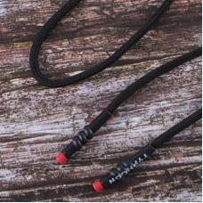 Шнур круглый наконечник с красным витой надпись Typhoon  130см черный уп 2 шт