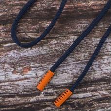 Шнурок 130см темно синий D058 / оранж D006 уп 2 шт