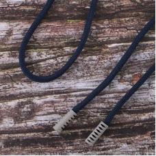 Шнурок 130см темно синий D058 / серый D225 уп 2 шт
