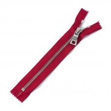 Молния металл №5 RR никель н/р 18см D519 ярко красный