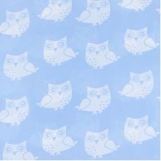Ткань на отрез бязь плательная 150 см 1682/3 цвет голубой