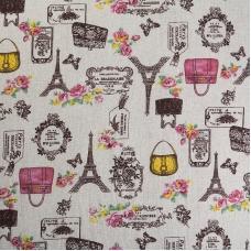 Ткань на отрез лен TBY-DJ-11 Париж