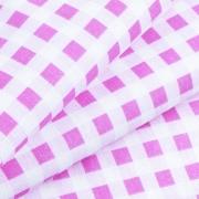 Маломеры бязь плательная 150 см Клетка 1/1см 1551/1 цвет розовый 10 м