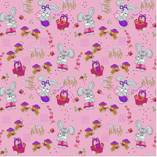 Бязь ГОСТ детская 150 см 1304/2 Лесная сказка цвет розовый