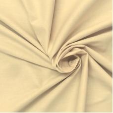 Ткань на отрез поплин гладкокрашеный 150 см цвет миндаль