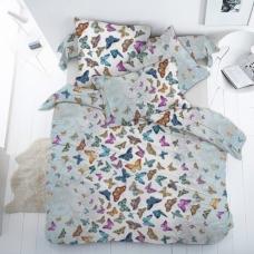 Ткань на отрез бязь Премиум 150 см 13091/1 Бабочки