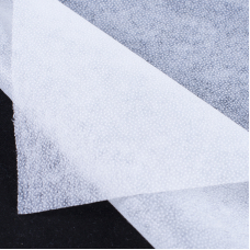 Ткань на отрез флизелин 90 см 30 гр/м2 цвет белый