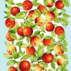 Ткань на отрез вафельное полотно 50 см 170 гр/м2 5616/1 Яблочки