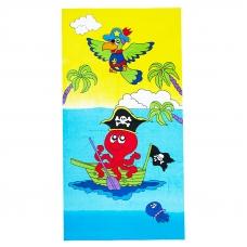 Полотенце махровое Sunvim 13D-7 70/140 см рисунок осьминог