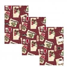 Набор вафельных полотенец 3 шт 35/70 см 366-6 Шоколадный