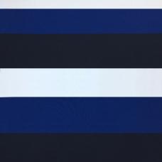 Ткань на отрез пике №3 Полоса синяя