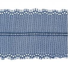Кружево реснички 20см XJ026-1 синий упаковка 3м