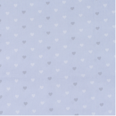 Ткань на отрез поплин 150 см 1971/1 Сердечки цвет голубой