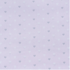 Ткань на отрез поплин 150 см 1971/2 Сердечки цвет розовый