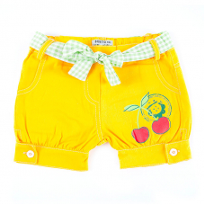 Шорты детские Вишня цвет желтый рост 98