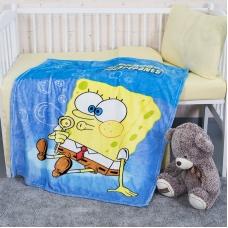 Плед детский велсофт SpongeBob  95/100