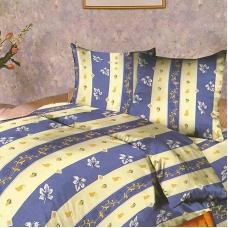 Ткань на отрез бязь о/м 120 гр/м2 150 см 104/3 Листопад цвет голубой