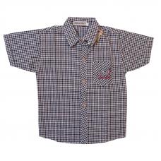 Рубашка детская малая серая клетка 152 см