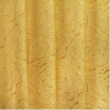 Мерный лоскут портьерная ткань 150 см Роза цвет золото 2,7 м