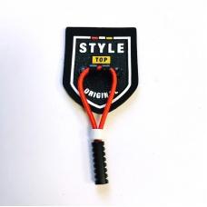 Нашивка  Style декор шнурок 3*3,5см 1953