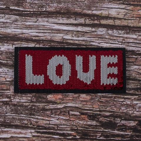 Аппликация Love 14,8*6,2 см