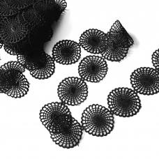 Кружево гипюр 4 см черный 2258 1 ярд