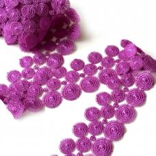 Кружево гипюр 4 см фиолетовый 070 1 ярд
