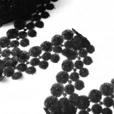 Кружево гипюр 4 см черный 070 1 ярд