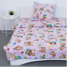 Детское постельное белье из поплина 1.5 сп 1615/3 цвет розовый