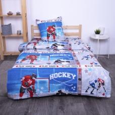Детское постельное белье из поплина 1.5 сп 1846 Хоккей