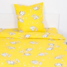 Детское постельное белье из бязи 1.5 сп 1285/5 Мамонтенок желтый